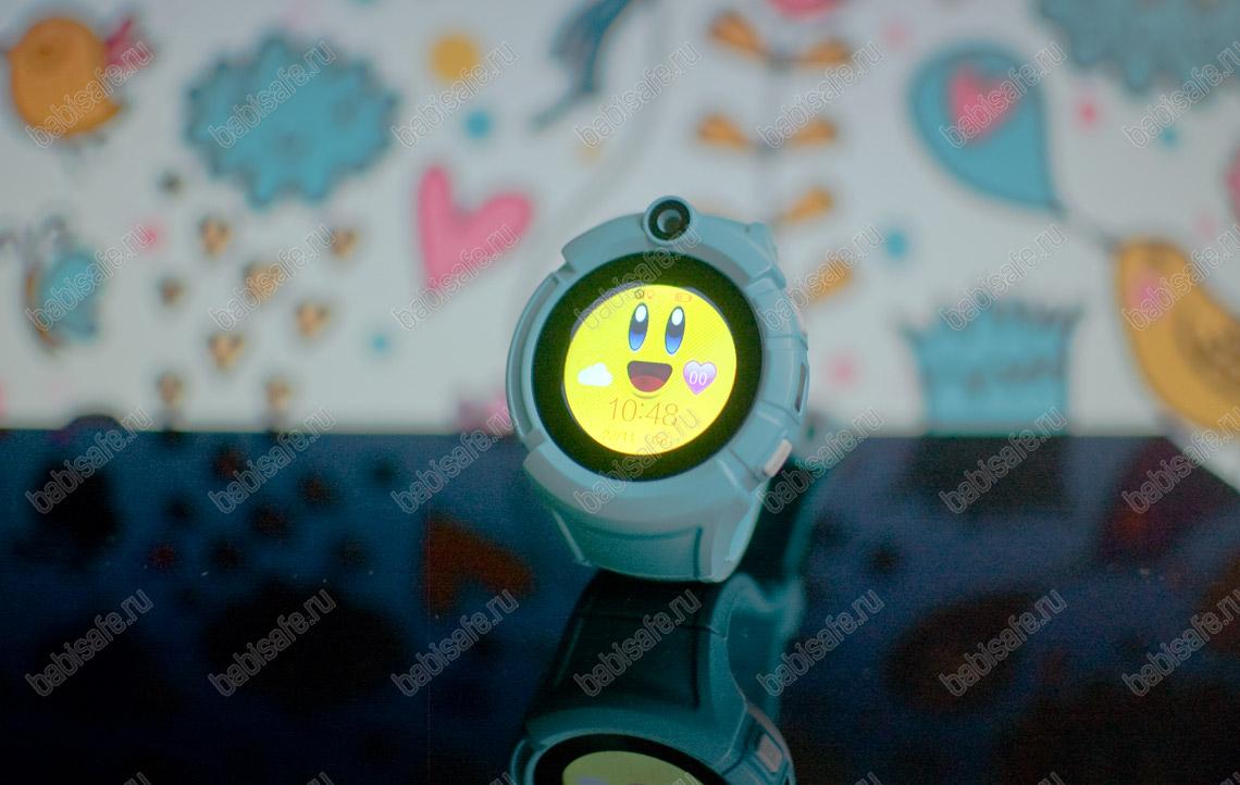 Детские часы телефон с gps трекером GW600, Q360 голубые
