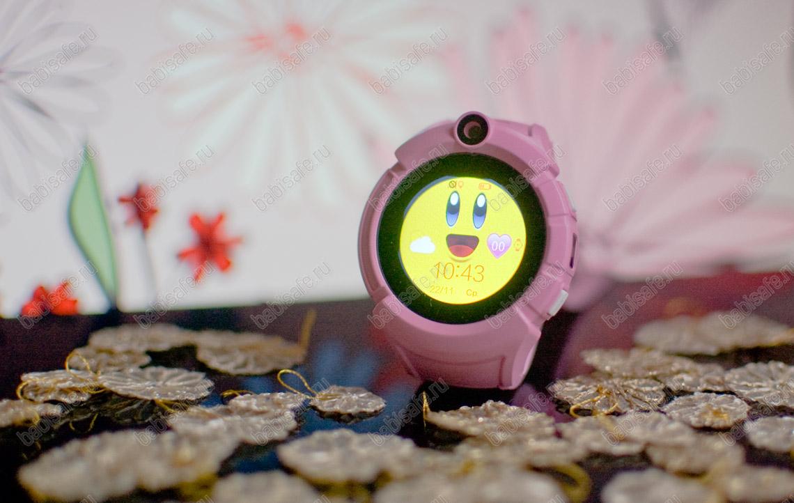 Детские часы телефон с gps трекером GW600, Q360 розовые