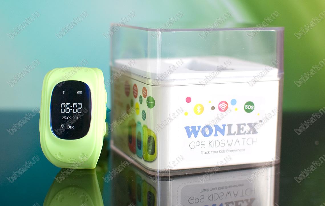 Детские часы с gps трекером Q50 зеленые