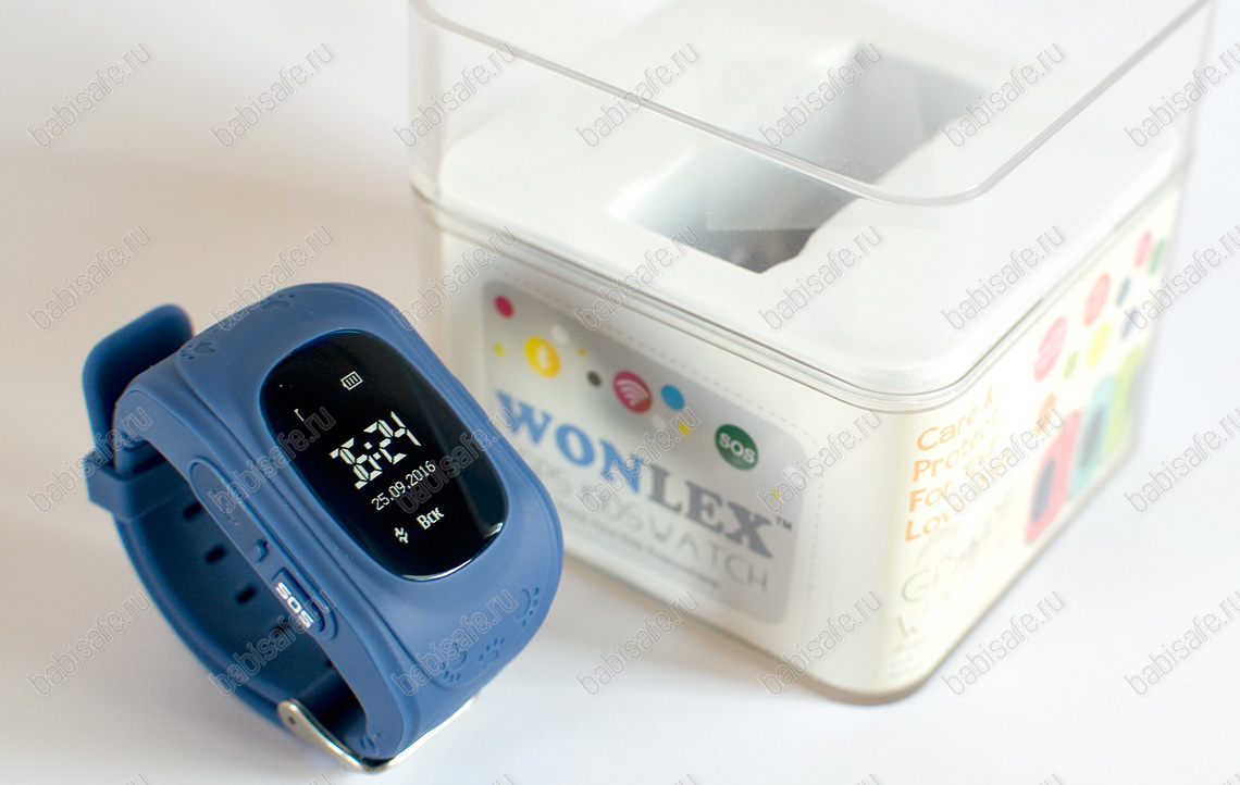 Детские часы с gps трекером Q50 синие