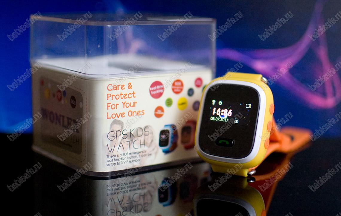 Детские часы с gps трекером Q60 (GW900S) черные