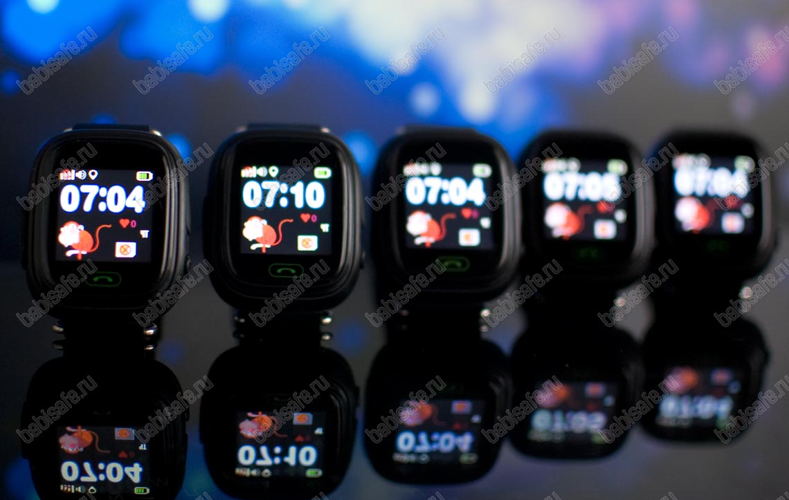 Детские часы с gps трекером Q80 (GW100) черные