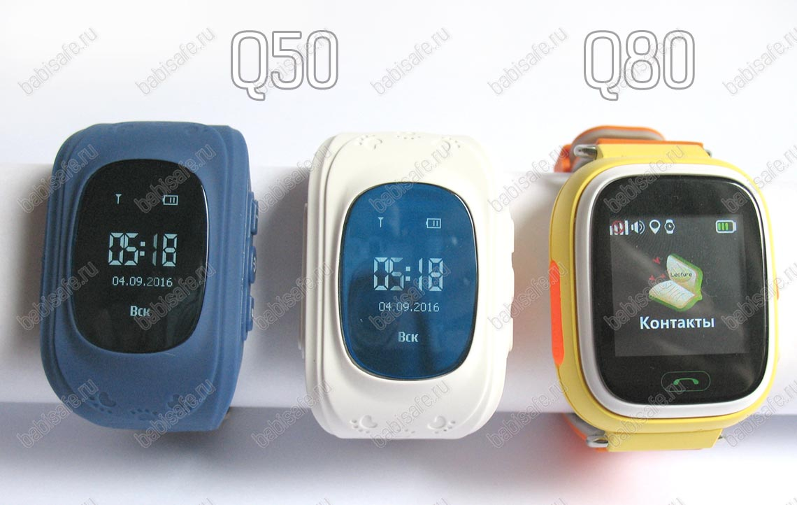 Детские умные часы-телефон с gps трекером Q50 и Q80