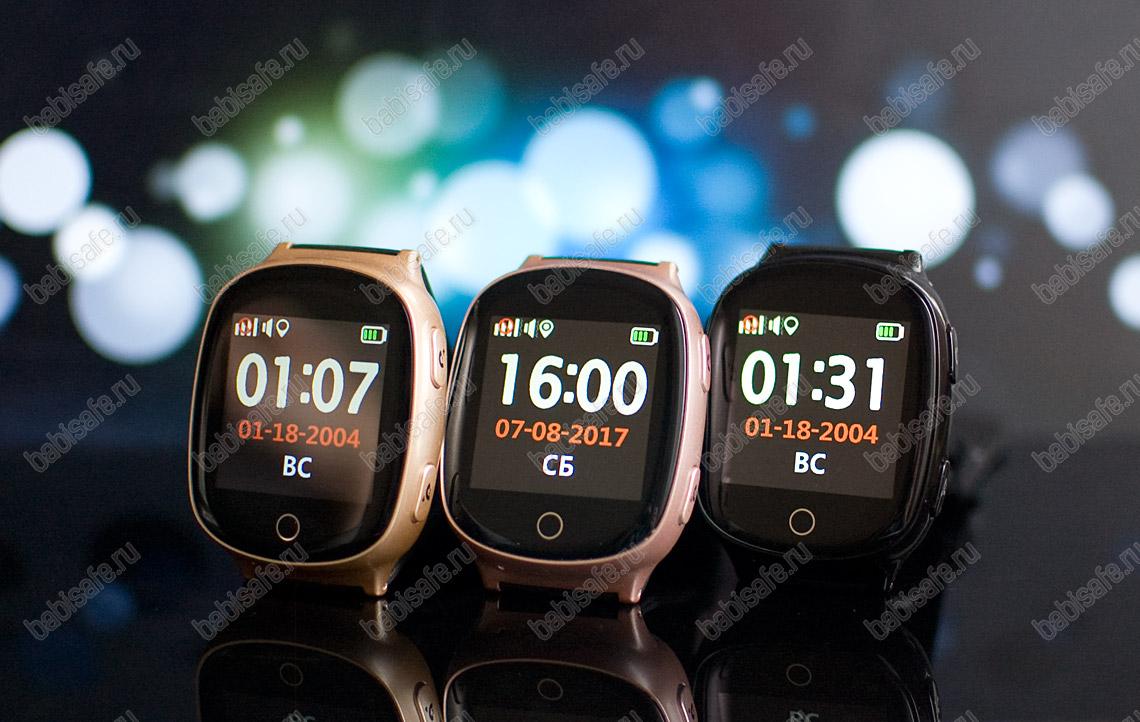 Часы телефон с gps трекером и пульсометром EW100S Wonlex