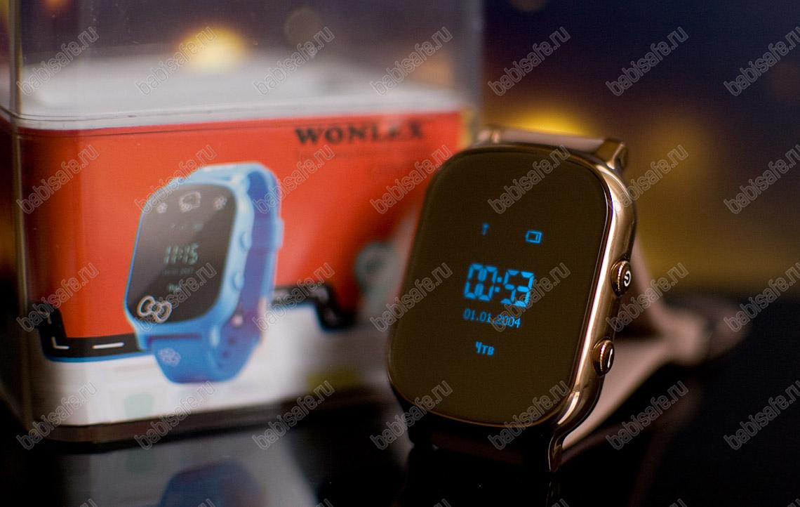 Детские часы телефон с gps трекером GW700 Wonlex золотые