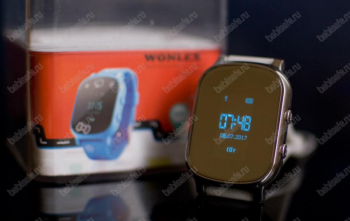 Детские часы телефон с gps трекером GW700 Wonlex серебристые
