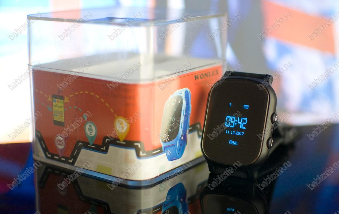 Детские часы телефон с gps трекером GW700 Wonlex черные